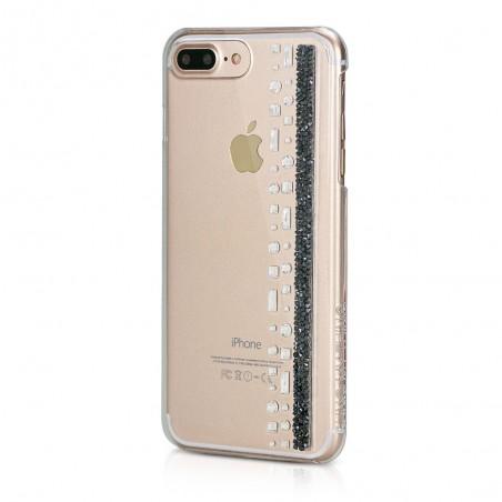Coque iPhone 7 Plus Hermitage Jet Strass Cristal et Noir Swarovski - Bling My Thing