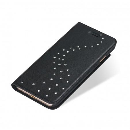 Etui iPhone 7 Primo Milky Way Pure Brillance en cuir véritable et strass Swarovski - Bling My Thing