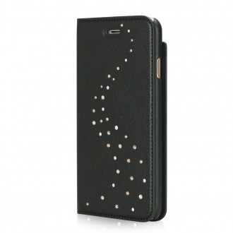 Etui iPhone 7 Primo Milky Way Angel Tears en cuir véritable et strass Swarovski - Bling My Thing