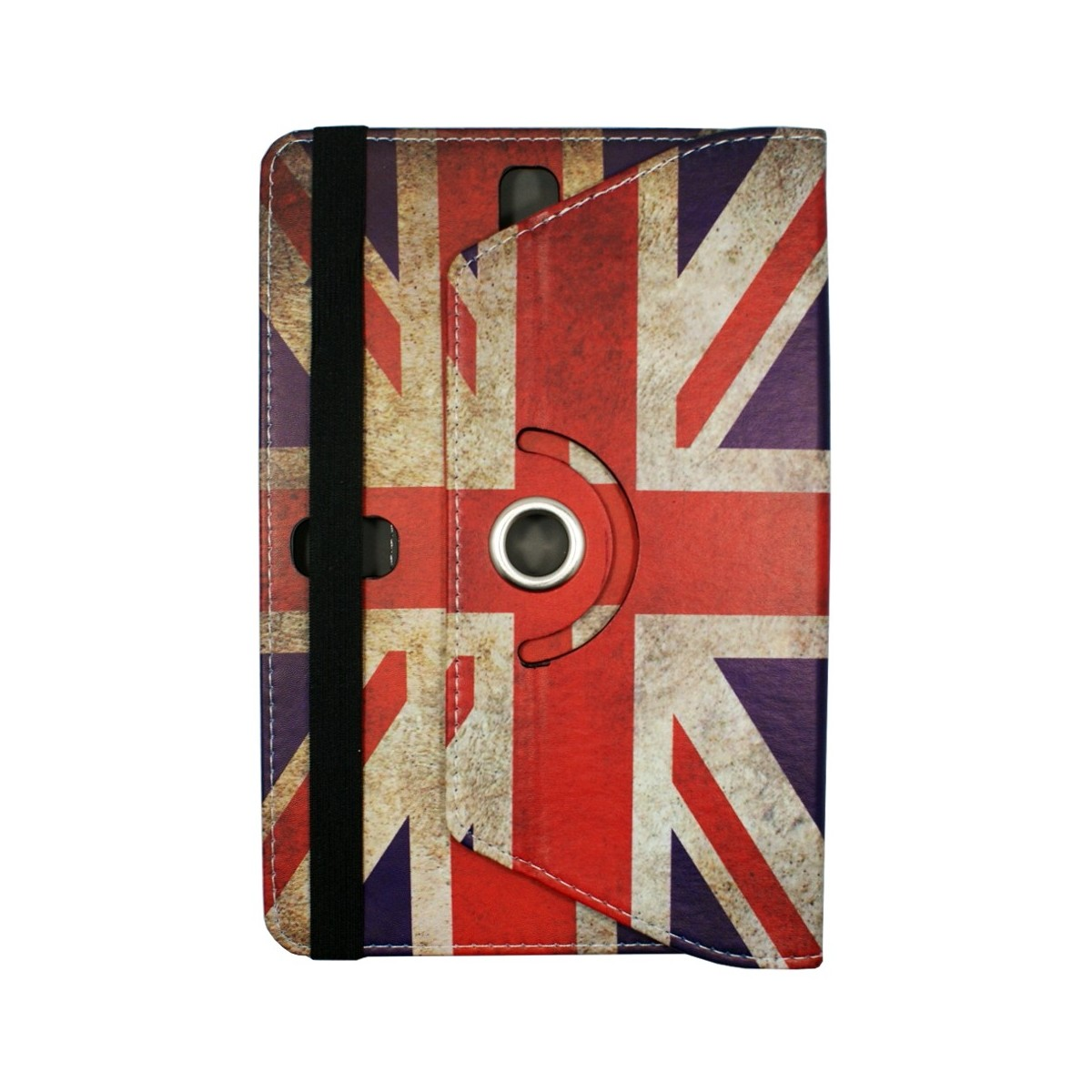 Etui tablette universel 9 pouces rotatif 360° motif drapeau UK - Crazy Kase