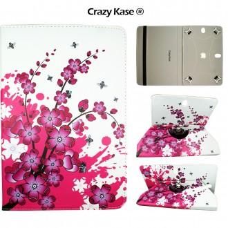 Etui tablette universel 10 pouces rotatif 360° Motif fleurs japonaises - Crazy Kase