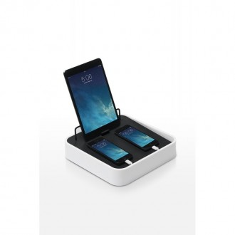 Station de charge pour tablette et smartphones Sanctuary 4 blanc - Bluelounge