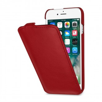 Etui iPhone 8 / iPhone 7 ultraslim rouge nappa en cuir véritable - Stilgut