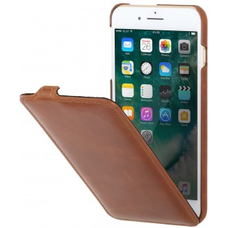 Etui iPhone 7 Plus ultraslim cognac en cuir véritable - Stilgut