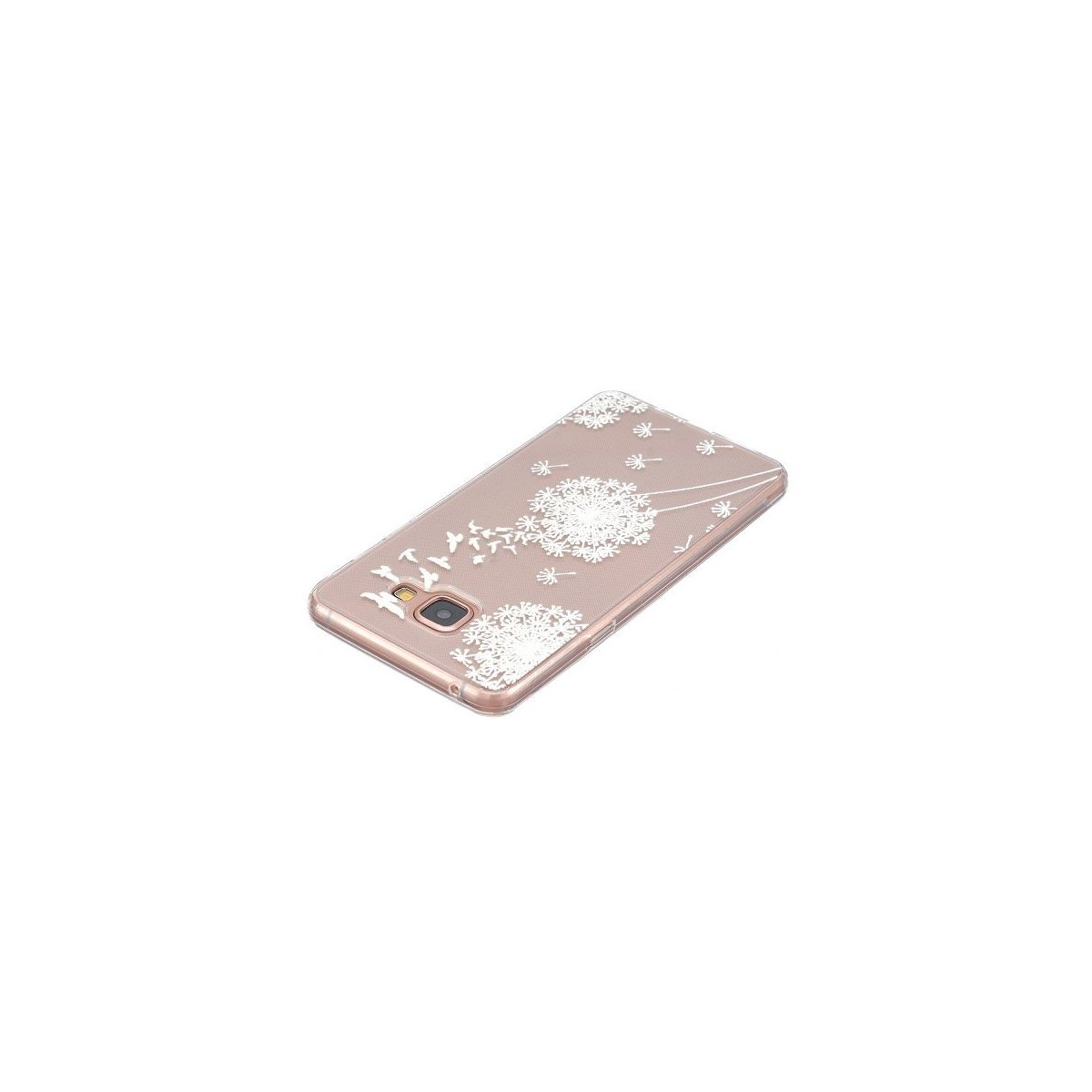 Coque Galaxy A3 (2016) Transparente souple motif fleurs blanches - Crazy Kase
