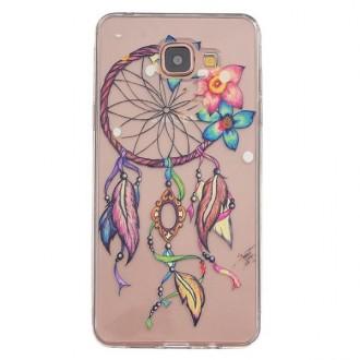 Coque Galaxy A3 (2016) Transparente souple motif Attrape Rêves Coloré et Fleurs - Crazy Kase