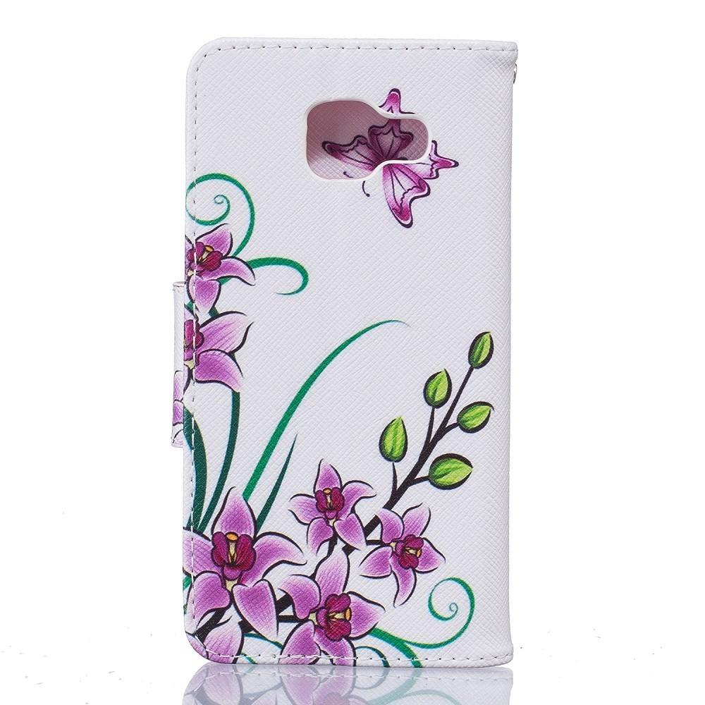 Etui Galaxy A3 (2016) Motif Fleurs et Papillons - Crazy Kase