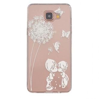 Coque Galaxy A5 (2016) Transparente souple motif Fleurs et Papillons Blancs - Crazy Kase