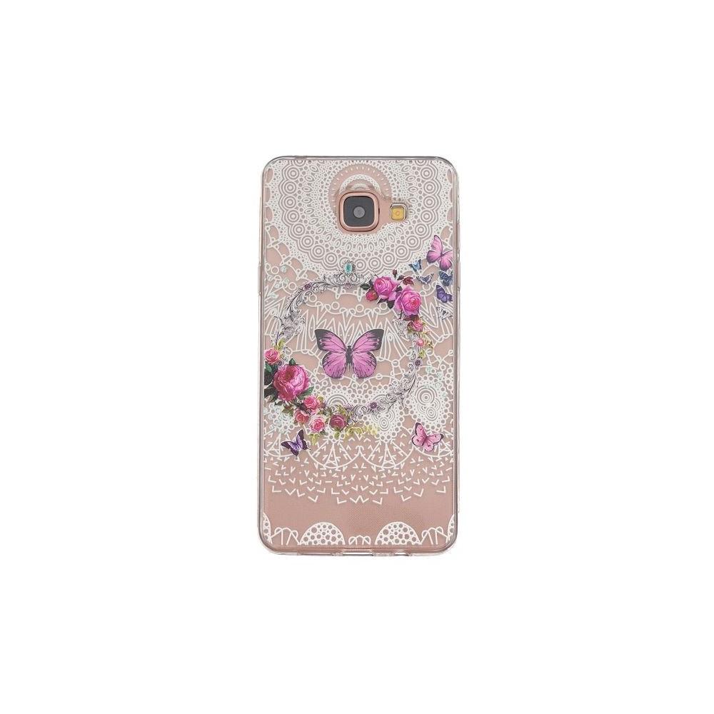 Coque Galaxy A5 (2016) Transparente souple motif Fleurs et Papillons Colorés - Crazy Kase