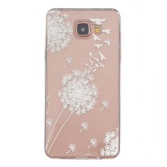 Coque Galaxy A5 (2016) Transparente souple motif Fleurs Blanches - Crazy Kase