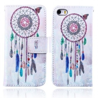 Etui iPhone SE / 5S /5 motif Attrape Rêves et Papillon - Crazy Kase