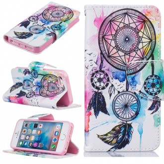 Etui iPhone SE / 5S /5 motif Attrape Rêve Coloré - Crazy Kase