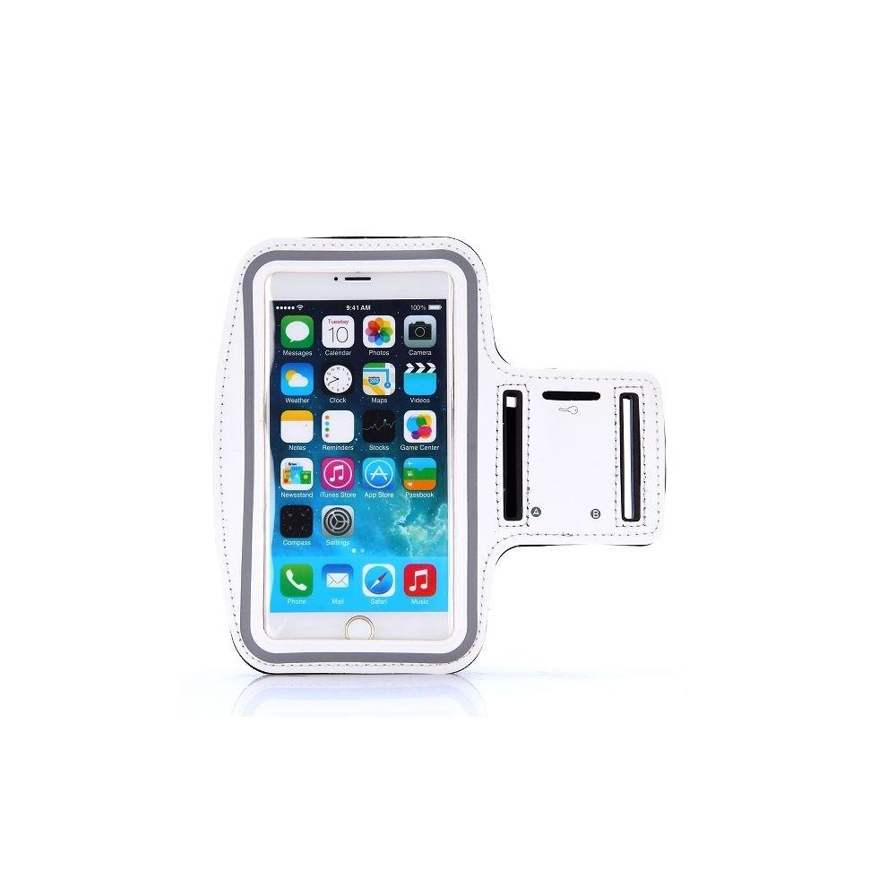 Brassard sport iPhone 6 Plus Nylon Blanc - Crazy Kase