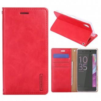 Etui Sony Xperia X Porte-cartes Rouge - Goospery