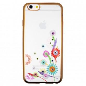 Coque iPhone 6 / 6s Transparente Fleurs et Strass - Dita