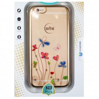 Coque iPhone 6 / 6s Transparente Fleurs Coeurs et Strass - Dita