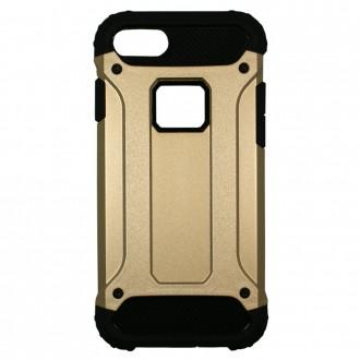 Coque antichoc iPhone 8 / iPhone 7 Bi-matière Noire et Dorée - Crazy Kase