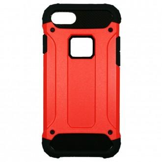 Coque antichoc iPhone 8 / iPhone 7 Bi-matière Noire et Rouge - Crazy Kase