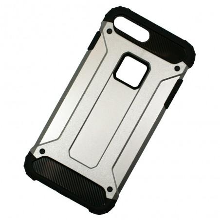 Coque anti-choc iPhone 7 Plus Bi-matière Noire et Argent - Crazy Kase