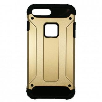 Coque antichoc iPhone 7 Plus Bi-matière Noire et Dorée - Crazy Kase