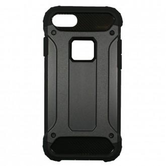 Coque antichoc iPhone 7 Bi-matière Noire - Crazy Kase