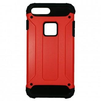 Coque antichoc iPhone 8 Plus/7 Plus Bi-matière Noire et Rouge - Crazy Kase