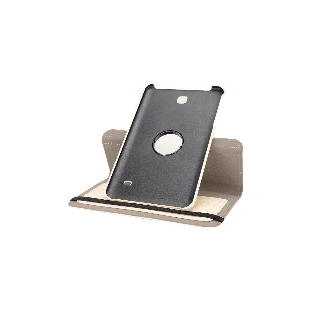 Etui Galaxy Tab 4 8.0 Rotatif 360° Simili-cuir Beige