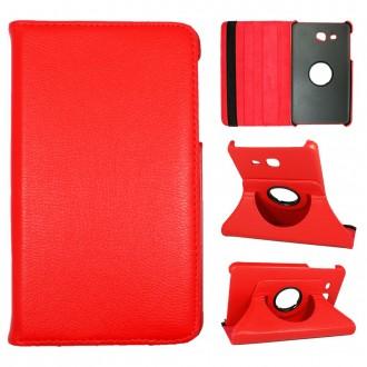 Etui Samsung Galaxy Tab A 7.0 (2016) Rotatif 360° Rouge - Crazy kase