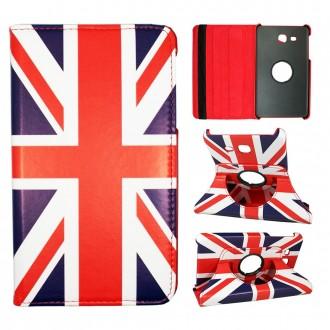 Etui Samsung Galaxy Tab A 7.0 (2016) Rotatif 360° Motif Drapeau UK - Crazy kase