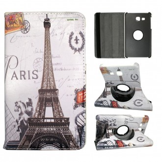 Etui Samsung Galaxy Tab A 7.0 (2016) Rotatif 360° Motif Paris Tour Eiffel - Crazy kase