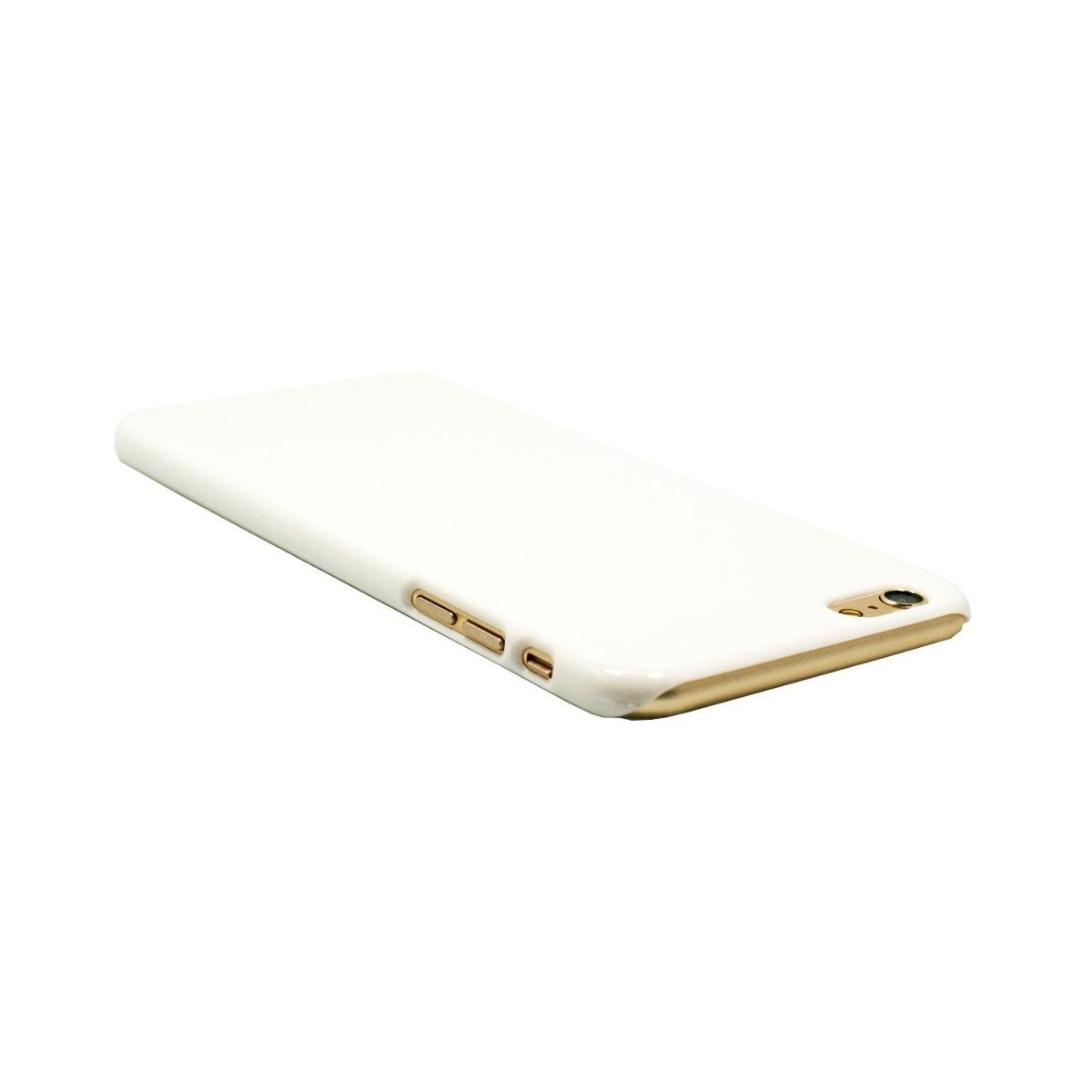 Coque iPhone 6 Plus / 6S Plus rigide blanche écru - Crazy Kase