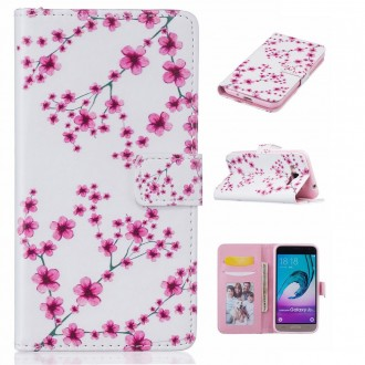 Etui Galaxy J3 (2016) motif Fleurs de Cerisiers - Crazy Kase