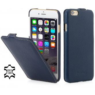 Etui iPhone 6 / 6S Ultraslim Bleu Marine en cuir véritable - Stilgut