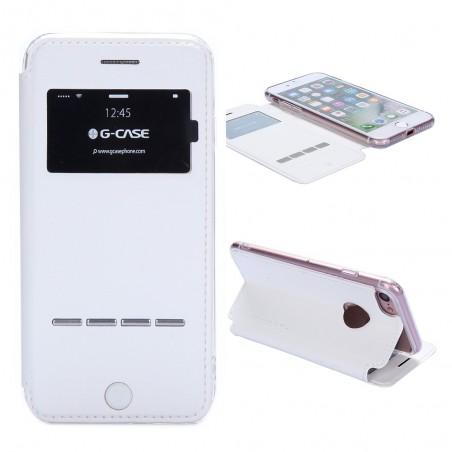 Etui iPhone 7 Blanc avec fenêtre - G-Case