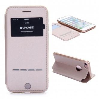 Etui iPhone 7 Doré avec fenêtre - G-Case