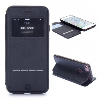 Etui iPhone 7 Noir avec fenêtre - G-Case