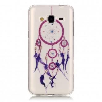 Coque Galaxy J3 (2016) Transparente motif Attrape Rêves Violet - Crazy Kase