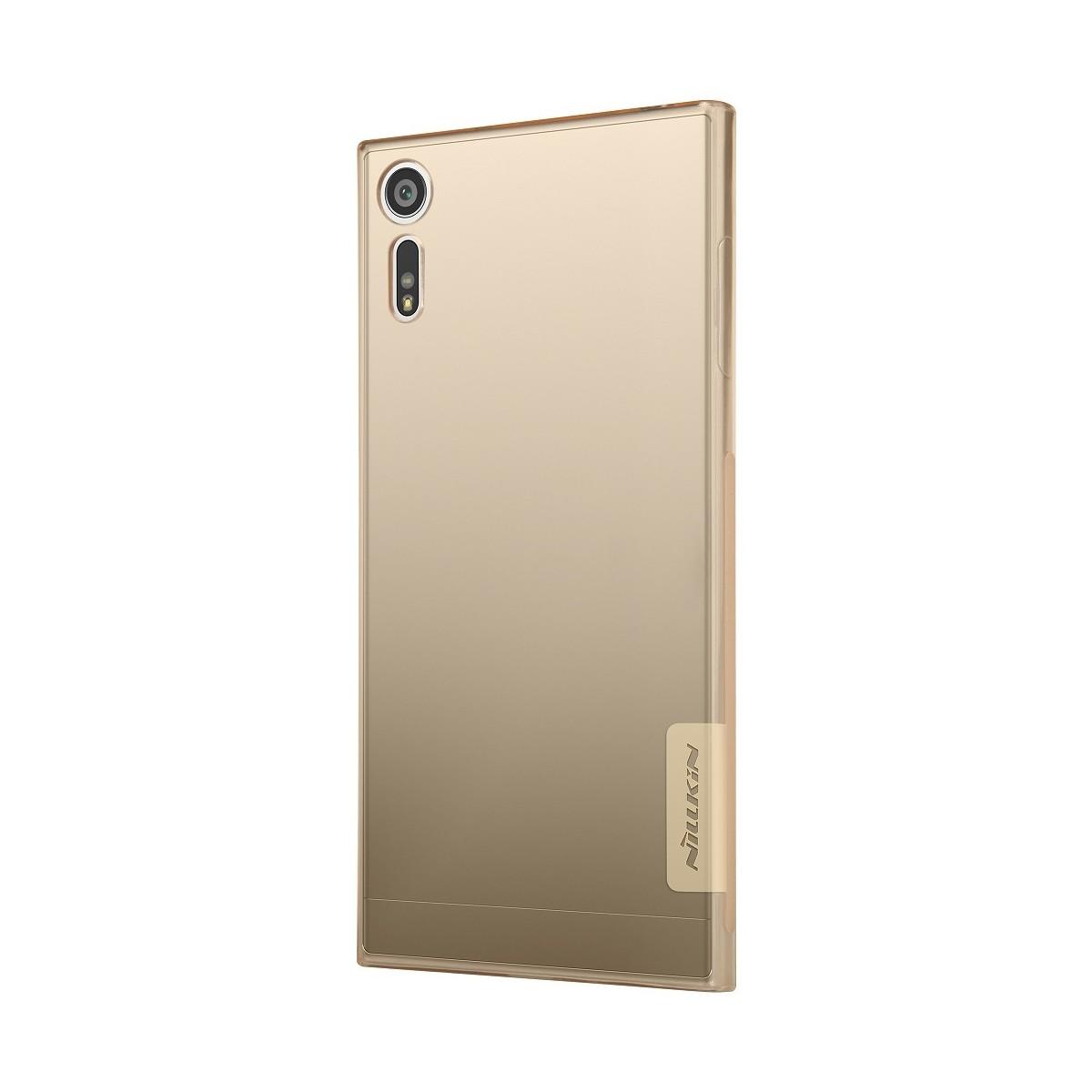 Coque Sony Xperia XZ Dorée Transparente souple - Nillkin