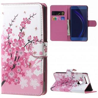 Etui Honor 8 motif Fleurs Japonaises - Crazy Kase