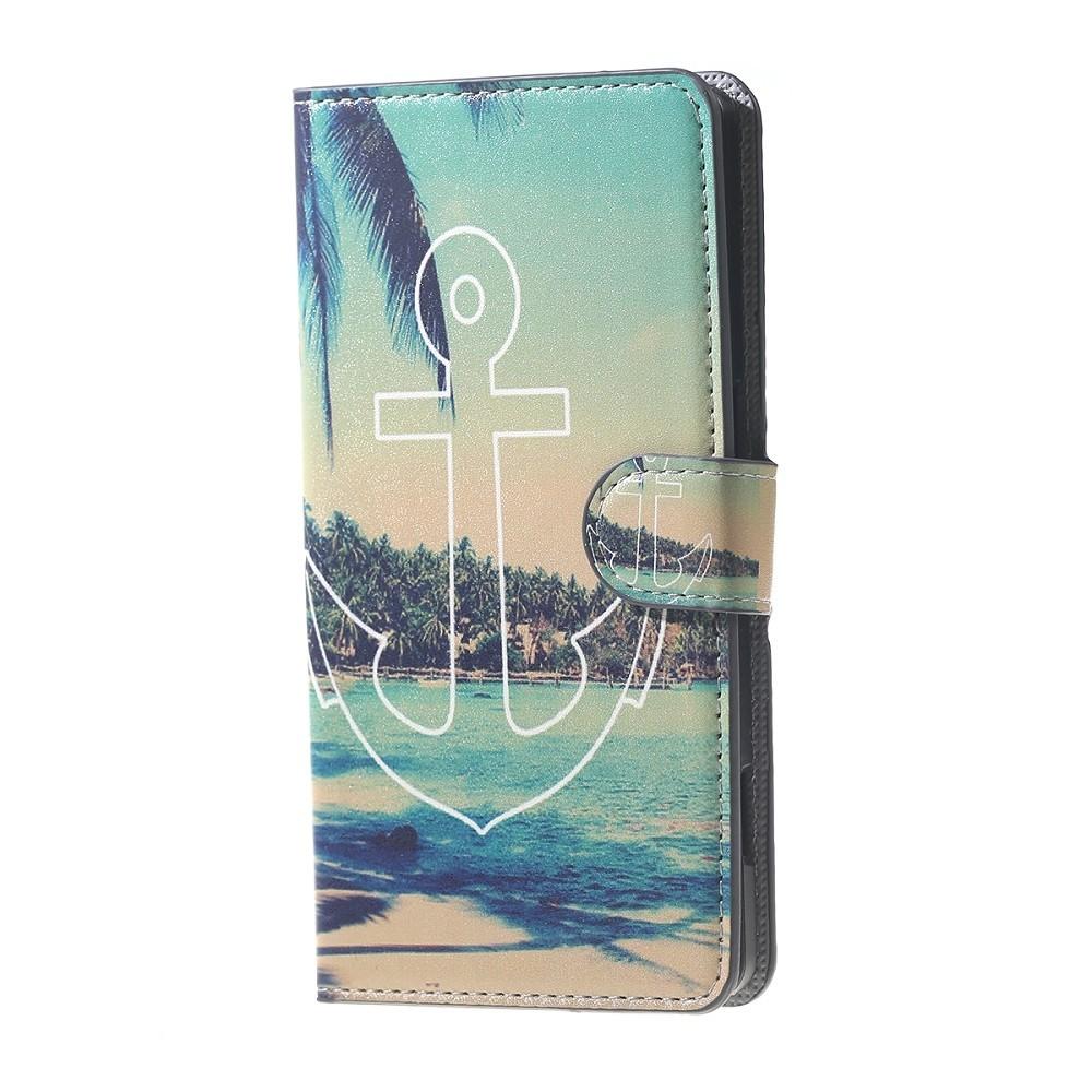 Etui Honor 8 motif Plage, île et palmiers avec Ancre - Crazy Kase