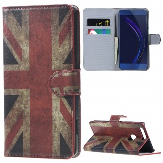 Etui Honor 8 motif Drapeau UK - Crazy Kase