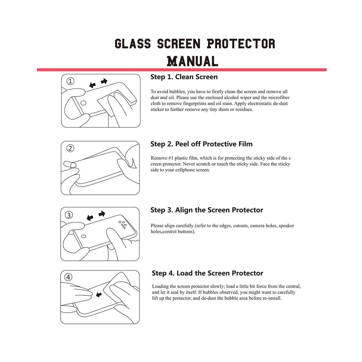 Film Honor 8 protection écran verre trempé contour Blanc