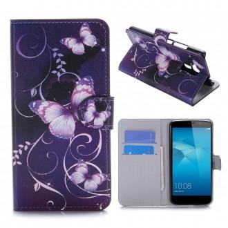 Etui Honor 5C motif Papillons Violets - Crazy Kase