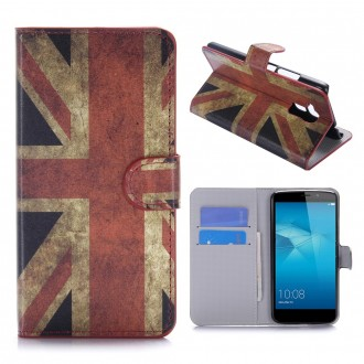 Etui Honor 5C motif Drapeau UK - Crazy Kase