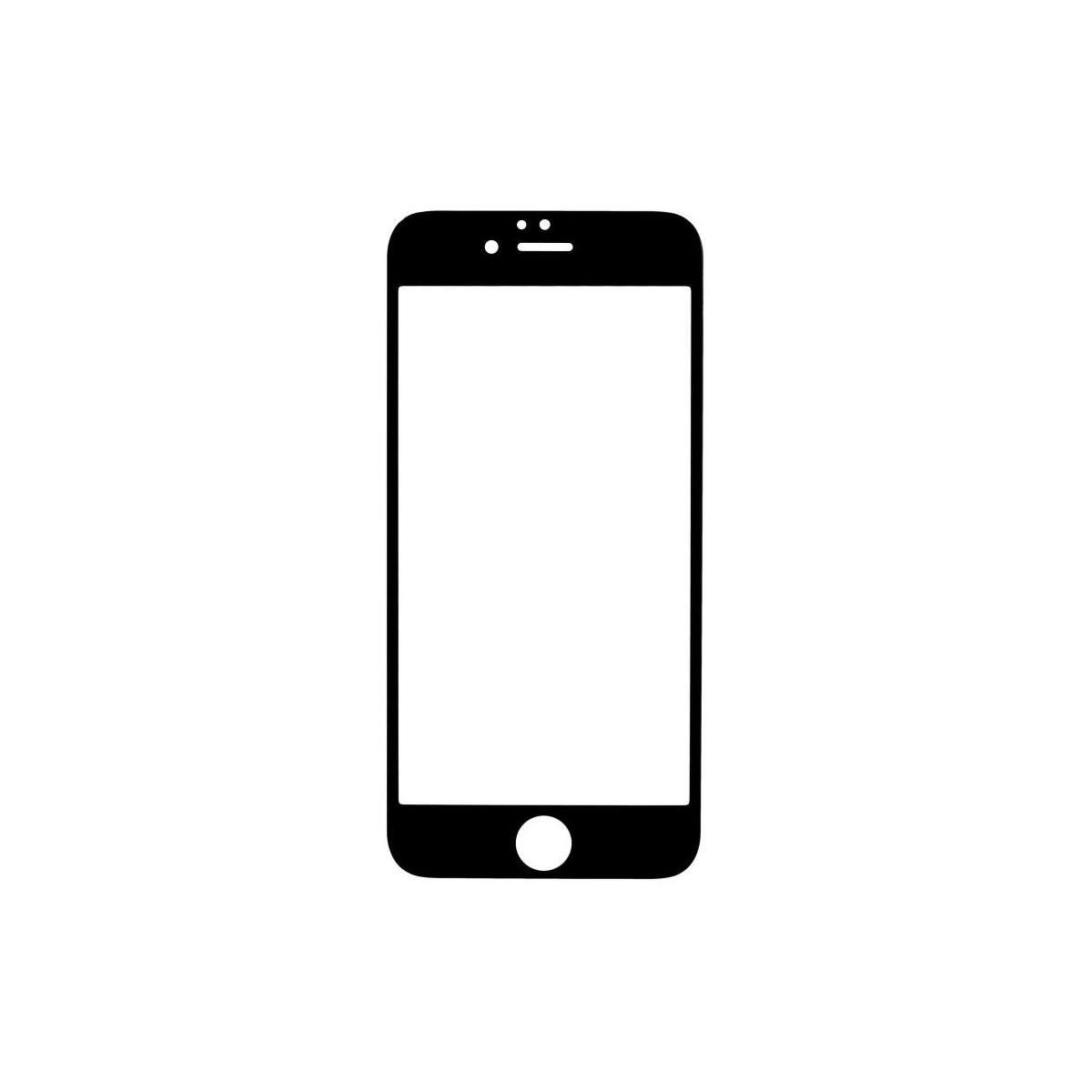 Film iPhone 6 / 6S protection écran verre trempé contour Noir - X-one
