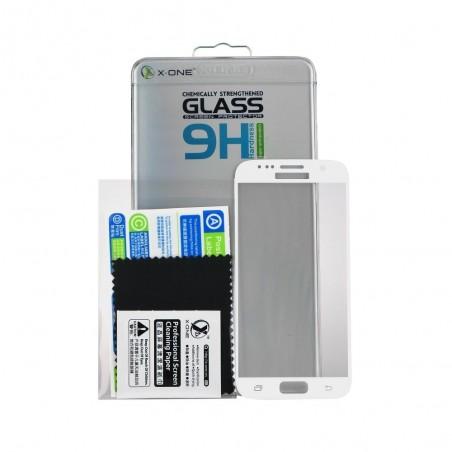 Film iPhone 7 protection écran verre trempé contour Blanc - X-one