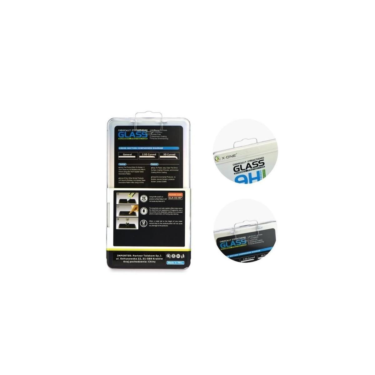 Film iPhone 6 / 6S protection écran verre trempé contour Blanc - X-one