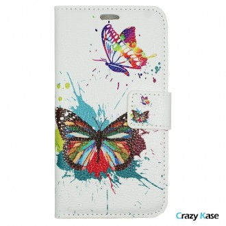 Etui iPhone 7 Plus motif Papillons Colorés - Crazy Kase