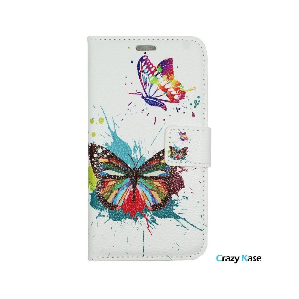 Etui iPhone 7 Plus motif Papillons Colorés - Crazy Kase