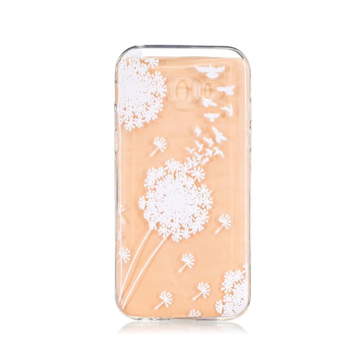 Coque Galaxy A5 (2017) Transparente souple motif Fleurs Blanches - Crazy Kase